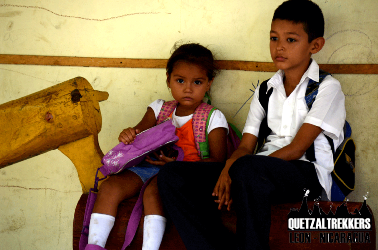 Quetzaltrekkers Leon helps the Special School