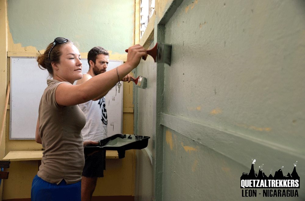 Painting Special School Project | Quetzaltrekkers Nicaragua | #education