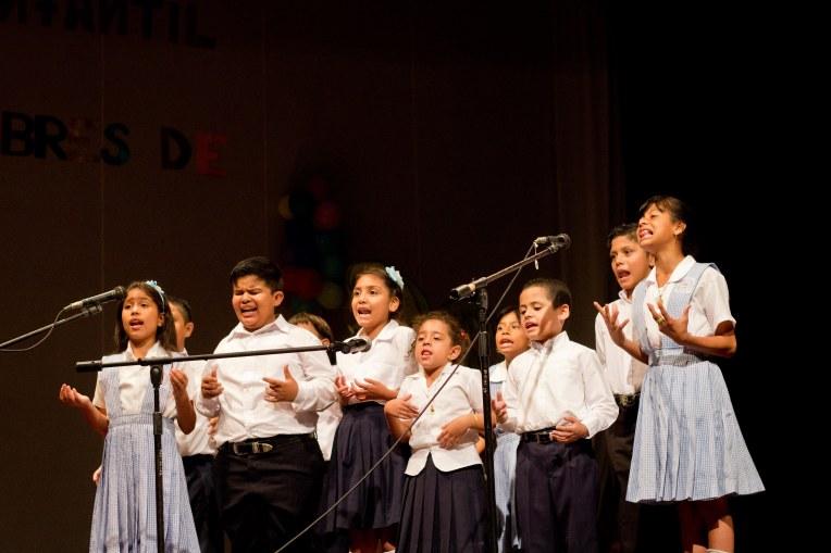 Children recite poetry at festival