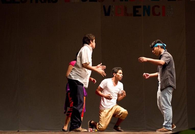 A skit performed by a group of teenagers